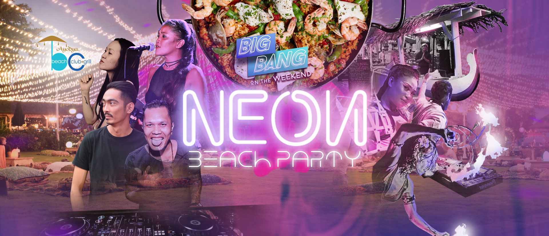 Neon Beach Party - BIG BANG on The Weekend
